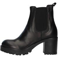 Schoenen Dames Enkellaarzen Unica 10264 BLACK