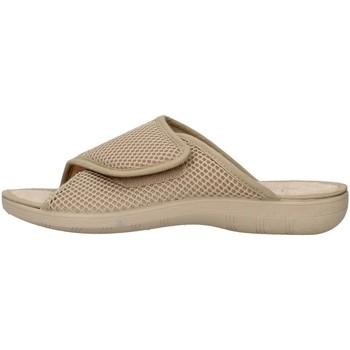 Schoenen Dames Leren slippers Superga S10M624 BEIGE