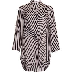 Textiel Dames Overhemden Lisca Okinawa  zomerhemd driekwart mouwen Parelmoer Zwart-wit