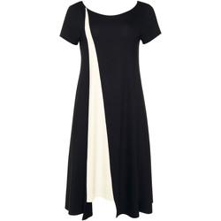 Textiel Dames Korte jurken Lisca Zomerjurk korte mouwen zwart Guaraja Parelmoer Zwart