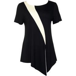 Textiel Dames Tops / Blousjes Lisca Top met korte mouwen Guaraja zwart Parelmoer Zwart
