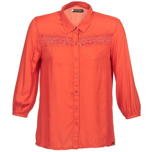 Textiel Dames Overhemden lange mouwen Volcom KNOTTY Rood
