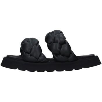 Schoenen Dames Leren slippers Bruno Bordese BOSIRIS BLACK