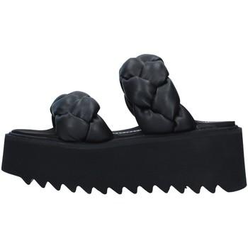 Schoenen Dames Leren slippers Bruno Bordese BOSROSE BLACK