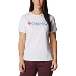 Textiel Dames T-shirts korte mouwen Columbia Sun Trek W Graphic Tee Blanc