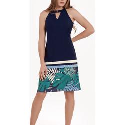 Textiel Dames Korte jurken Lisca Mouwloze zomerjurk Tahiti Blauw