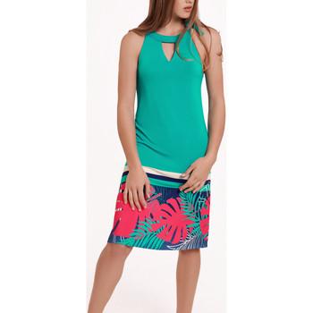 Textiel Dames Jurken Lisca Mouwloze zomerjurk Tahiti Donkergroen