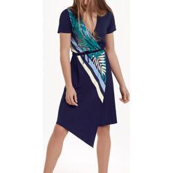 Textiel Dames Jurken Lisca Tahiti  asymmetrische zomerjurk met korte mouwen Blauw