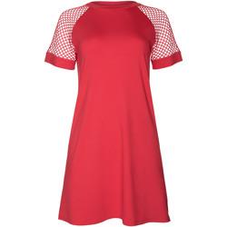 Textiel Dames Korte jurken Lisca Strandjurkje met korte mouwen Ibiza Wit Kant