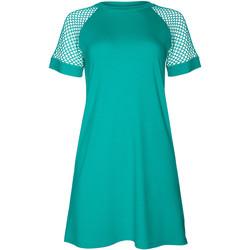 Textiel Dames Korte jurken Lisca Strandjurkje met korte mouwen Ibiza Blauw Turquoise