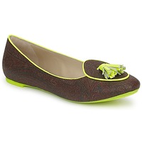 Schoenen Dames Mocassins Etro BALLERINE 3738 Brown / Citron