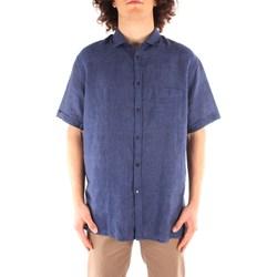 Textiel Heren Overhemden korte mouwen Trussardi 52C00213 1T002248 NAVY BLUE