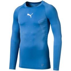 Textiel Heren T-shirts met lange mouwen Puma  Blauw