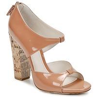 Schoenen Dames Sandalen / Open schoenen John Galliano AN6364 Roze / Beige