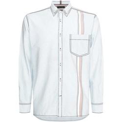 Textiel Heren Overhemden lange mouwen Tommy Hilfiger MW0MW17586 Blauw