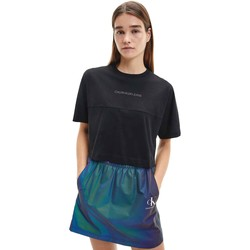 Textiel Dames T-shirts korte mouwen Calvin Klein Jeans J20J215313 Zwart