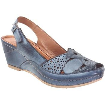 Schoenen Dames Sandalen / Open schoenen Karyoka Figo Blauwe jeans leer