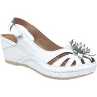 Schoenen Dames Sandalen / Open schoenen Karyoka Fleur Wit leer