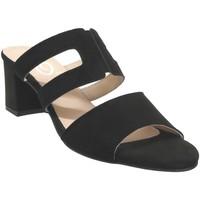 Schoenen Dames Leren slippers Folies 1210 Velvet zwart