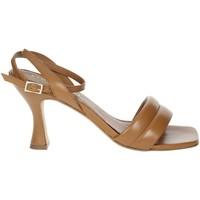 Schoenen Dames Sandalen / Open schoenen Paola Ferri D7439 Brown leather
