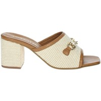 Schoenen Dames Leren slippers Paola Ferri D7431 Brown leather