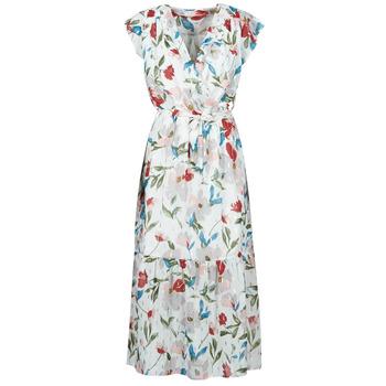 Textiel Dames Lange jurken Moony Mood OLICA Wit / Multicolour