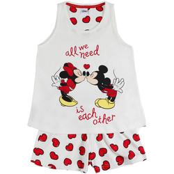 Textiel Meisjes Pyjama's / nachthemden Admas Pyjama meisje korte tank top Love Mouse Disney ivoor Geel