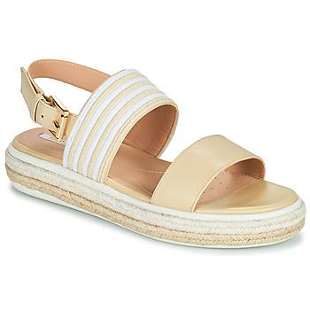 Schoenen Dames Sandalen / Open schoenen Geox LEELU Beige