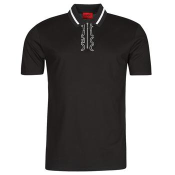 Textiel Heren Polo's korte mouwen HUGO DOLMAR Zwart / Wit
