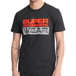 Textiel Heren T-shirts korte mouwen Superdry  Zwart