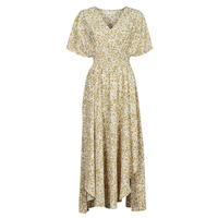 Textiel Dames Lange jurken Betty London ONINA Geel / Wit