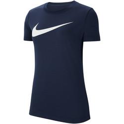 Textiel Dames T-shirts korte mouwen Nike Dri-FIT Park 20 HBR SS Tee Women Blau