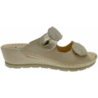 Schoenen Dames Leren slippers Riposella RIP40925bei bianco