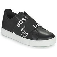 Schoenen Kinderen Lage sneakers BOSS KAMILA Zwart / Wit