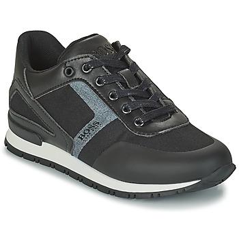 Schoenen Jongens Lage sneakers BOSS FILEMONA Zwart