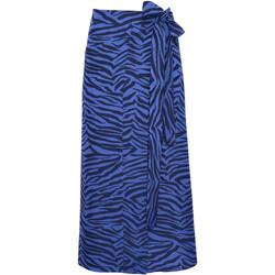 Textiel Dames Rokken Lisca Zomerse wikkelrok Lima Blauw