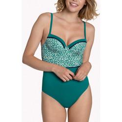 Textiel Dames Badpak Lisca Utila  1-delig voorgevormd multi-positie badpak Donkergroen