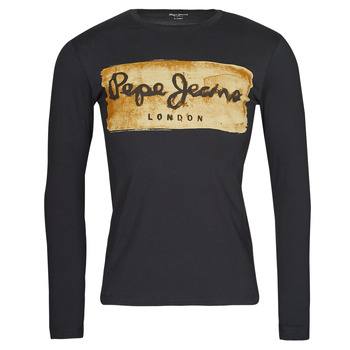 Textiel Heren T-shirts met lange mouwen Pepe jeans CHARING LS Zwart