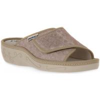 Schoenen Dames Leren slippers Emanuela 1077 PIPER TIERRA Marrone