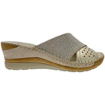 Schoenen Dames Leren slippers Riposella RIP11246bei blu