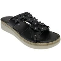 Schoenen Dames Leren slippers Riposella RIP16209ner nero