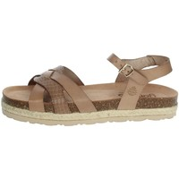 Schoenen Dames Sandalen / Open schoenen Yokono JAVA-152 Brown Taupe