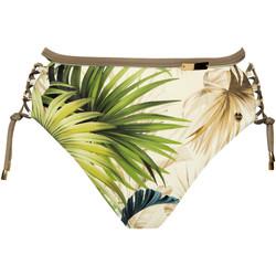 Textiel Dames Bikinibroekjes- en tops Lisca Zwembroekje hoge taille ingedeukt Ensenada Donkergroen