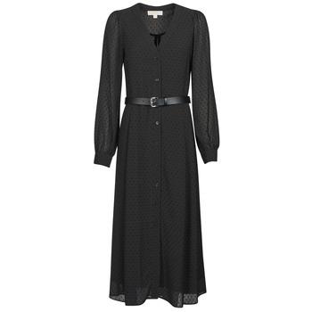 Textiel Dames Lange jurken MICHAEL Michael Kors CRINKLE DOTS KATE DRS Zwart