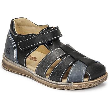 Schoenen Jongens Sandalen / Open schoenen Citrouille et Compagnie FRINOUI Marine / Grijs