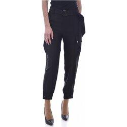 Textiel Dames Broeken / Pantalons Guess W0BB84 WDEL0 Zwart