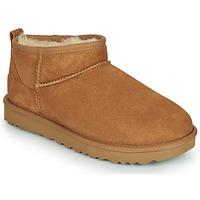 Schoenen Dames Laarzen UGG CLASSIC ULTRA MINI Camel