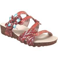 Schoenen Dames Leren slippers Laura Vita Brcyano 51 Rood leer