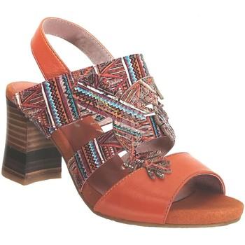 Schoenen Dames Sandalen / Open schoenen Laura Vita Ceclesteo 01 Oranje Meerkleurig