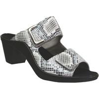 Schoenen Dames Leren slippers Romika Westland St.tropez 353 Witte boa